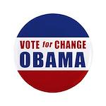 """Vote for Change Obama 3.5"""" Button"""