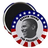 Classic Black &amp;amp; White Obama 2.25&amp;quot; Magnet