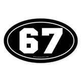 #67 Euro Bumper Oval Sticker -Black