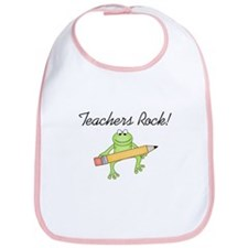 Frog Teachers Rock Bib