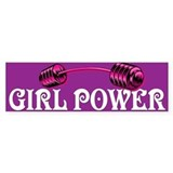 GIRL POWER Bumper Bumper Stickers