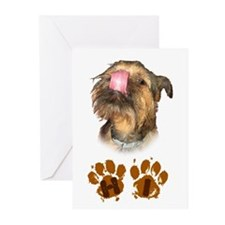 Brussels Griffon 'HI' Greeting Cards (Pk of 20)