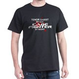 Tenor Sax Cage Fighter by Night T-Shirt