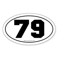 #79 Euro Bumper Oval Sticker -White