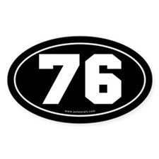 #76 Euro Bumper Oval Sticker -Black