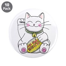 "lucky Money Cat 3.5"" Button (10 pack)"