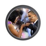 Obama Fist Bump Wall Clock