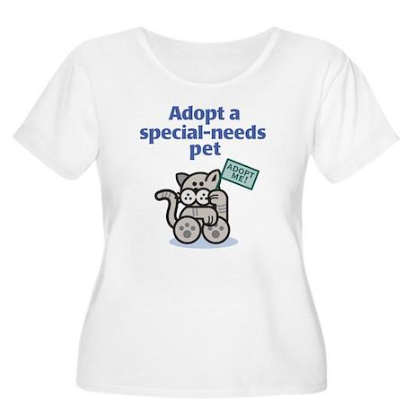 Special-Needs Pet (Cat) Women's Plus Size Tee