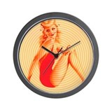 Pin-up Girl Wall Clock