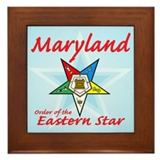 Maryland Eastern Star Framed Tile
