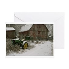 Tractor & Barn Christmas Greeting Cards (Pk of 10)