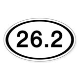26.2 Oval Bumper Stickers