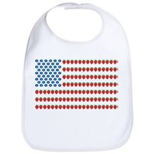 Fruit American Flag Bib