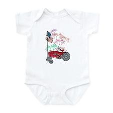 Patriotic Red Tractor Infant Bodysuit