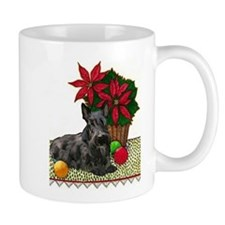 Scotty and Poinsettia Coffee Mug