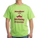 1st Birthday Princess's MomMo Green T-Shirt