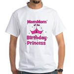 1st Birthday Princess's MomMo White T-Shirt