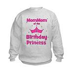 1st Birthday Princess's MomMo Kids Sweatshirt