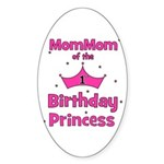 1st Birthday Princess's MomMo Oval Sticker