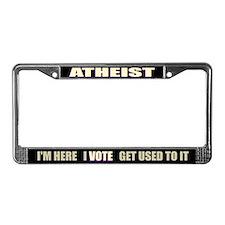Atheist I Vote License Plate Frame
