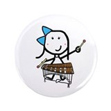 "Girl & Pit Percussion 3.5"" Button (100 pack)"