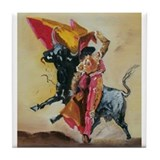 Cute Bullfighter Tile Coaster