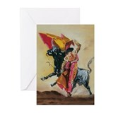 Cute Bullfighters Greeting Cards (Pk of 20)