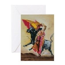 Cute Bullfighting Greeting Card