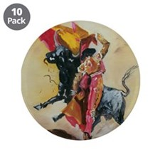 "Cute Bullfighting 3.5"" Button (10 pack)"