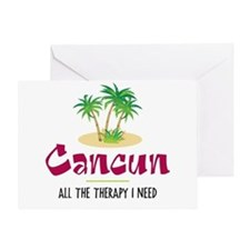 Cancun Therapy - Greeting Card