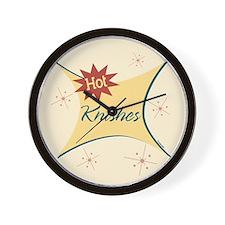 Hot Knishes Retro Wall Clock