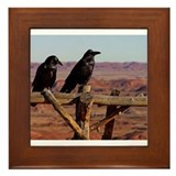 Crows Framed Tile