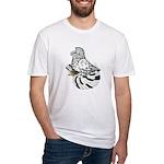 English Trumpeter Light Splas Fitted T-Shirt