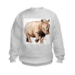 Rhino Rhinoceros Kids Sweatshirt