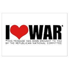 I Love War Large Poster