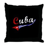 Cuba Flag Distressed Throw Pillow