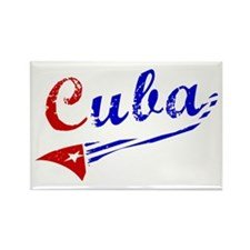 Cuba Flag Distressed Rectangle Magnet (100 pack)