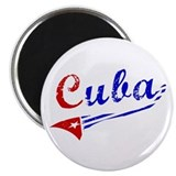 Cuba Flag Distressed Magnet