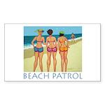 Beach Patrol - Divas Rectangle Sticker