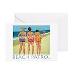 Beach Patrol - Divas Greeting Cards (Pk of 10)