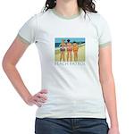 Beach Patrol - Divas Jr. Ringer T-Shirt