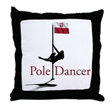 Cute Pole dancer Throw Pillow
