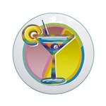 Martini Keepsake (Round)