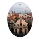 Prague, Czech Republic Oval Ornament