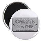 Brushed Steel - Gnome Hater Magnet