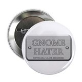"Brushed Steel - Gnome Hater 2.25"" Button (100 pack"