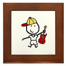 Boy & Electric Guitar Framed Tile