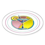Martini Oval Sticker