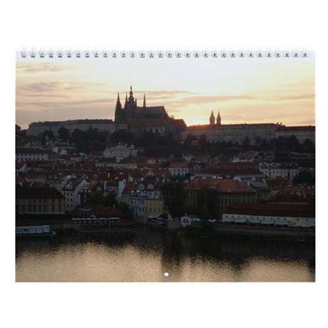Prague Castle at Sunset Wall Calendar