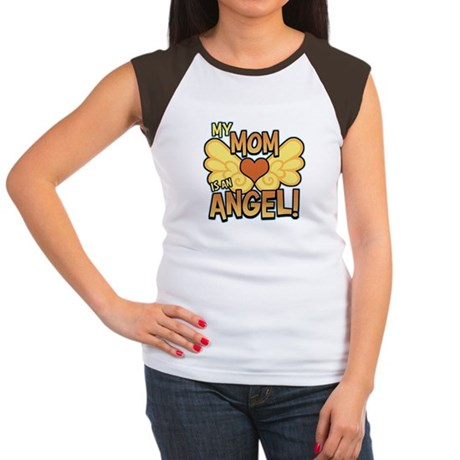 My Mom Angel Women's Cap Sleeve T-Shirt